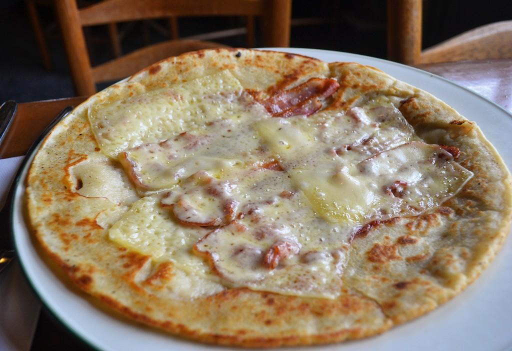 Pannenkoek bacon formaggio De Kraai