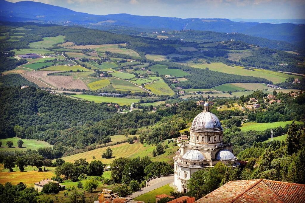 Panorama dal Campanile di San Fortunato Todi