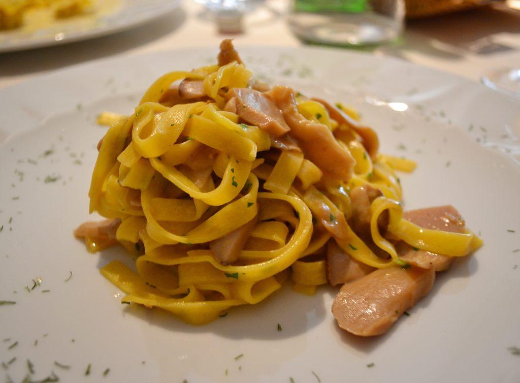Tagliatelle ai funghi La Cucina del Petrarca Arquà Petrarca