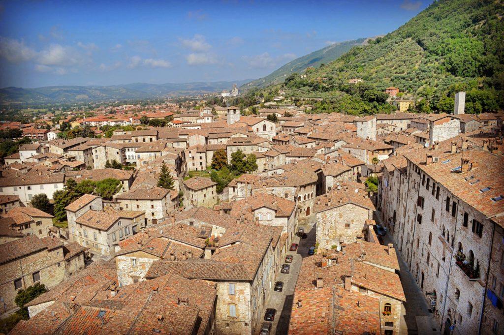 Vista Loggia Panoramica Palazzo dei Consoli Gubbio