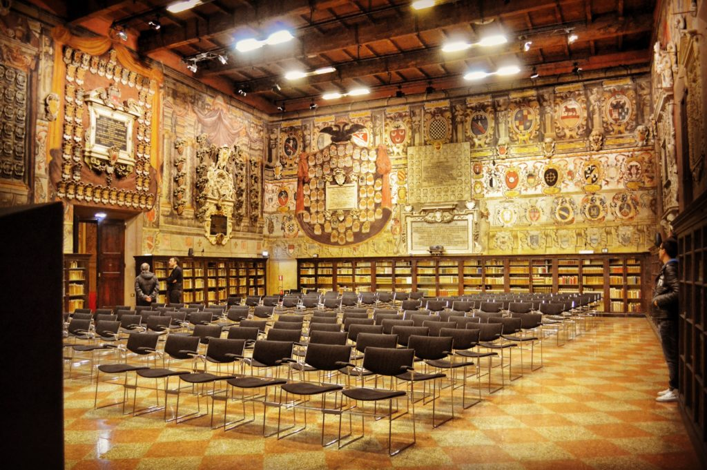 Palazzo dellArchiginnasio Bologna Sala dello Stabat Mater