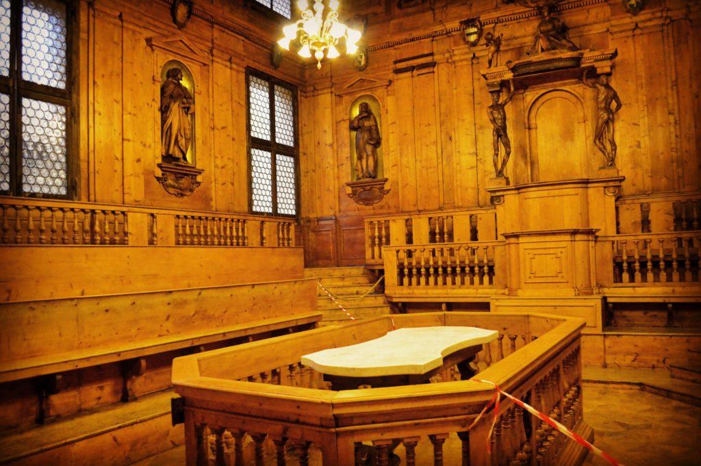Palazzo dell'Archiginnasio Bologna Teatro Anatomico