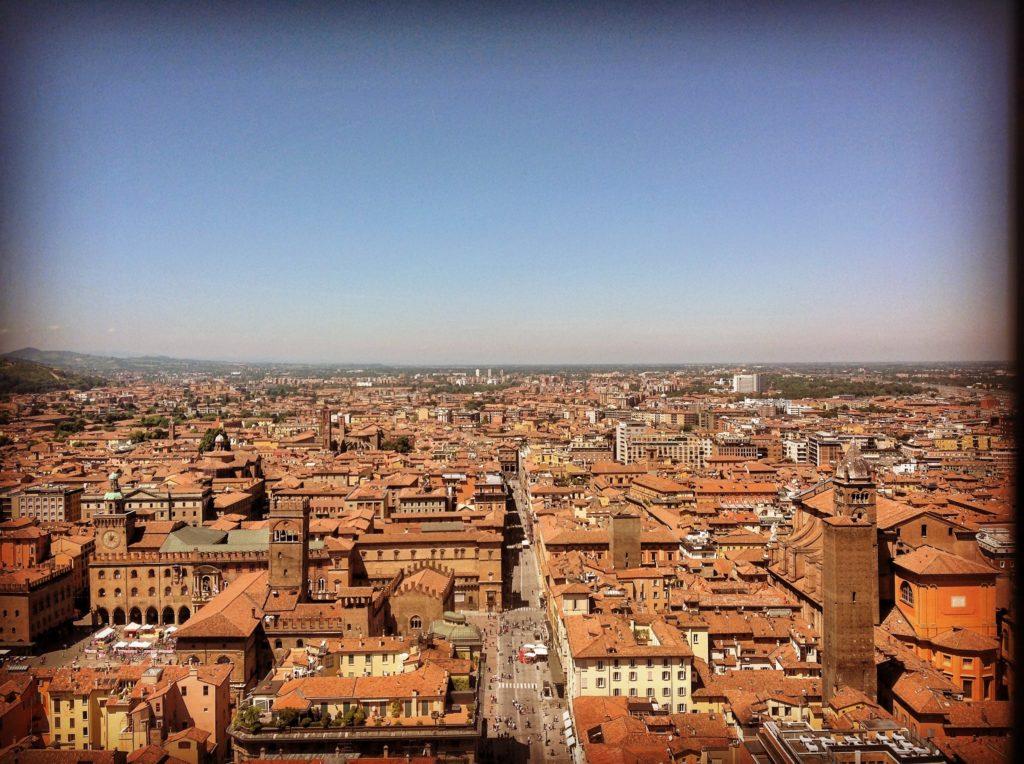 Torre degli Asinelli Bologna vista panoramica