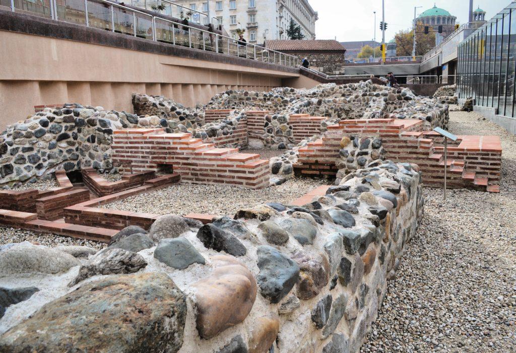 Resti dell'antica Serdica Sofia Bulgaria