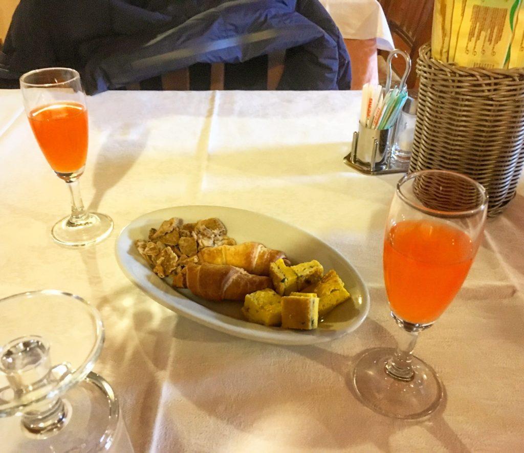 Agriturismo Alla Strozza Ferrara aperitivo di benvenuto