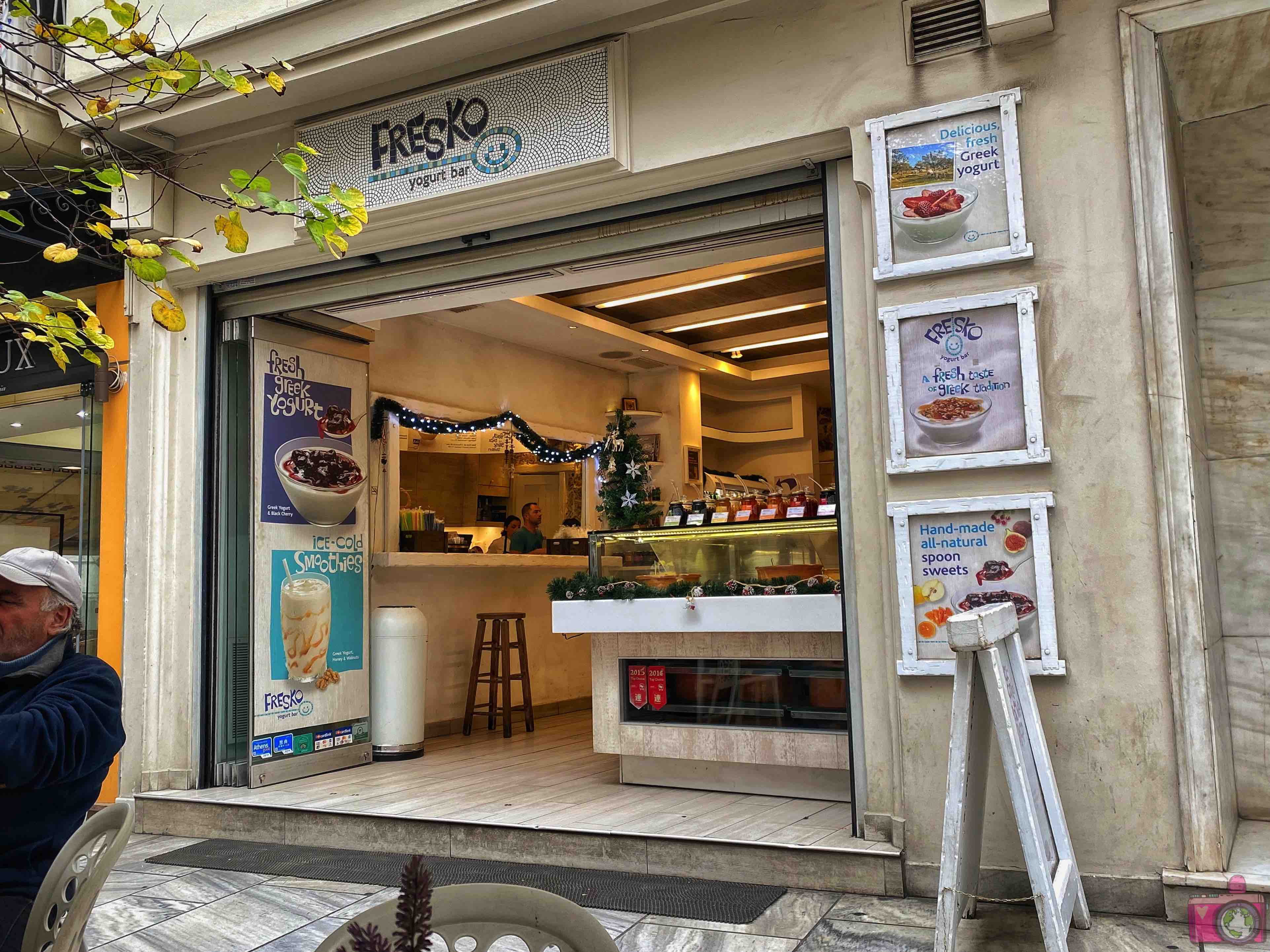 Dove mangiare ad Atene Fresco Yogurt Bar