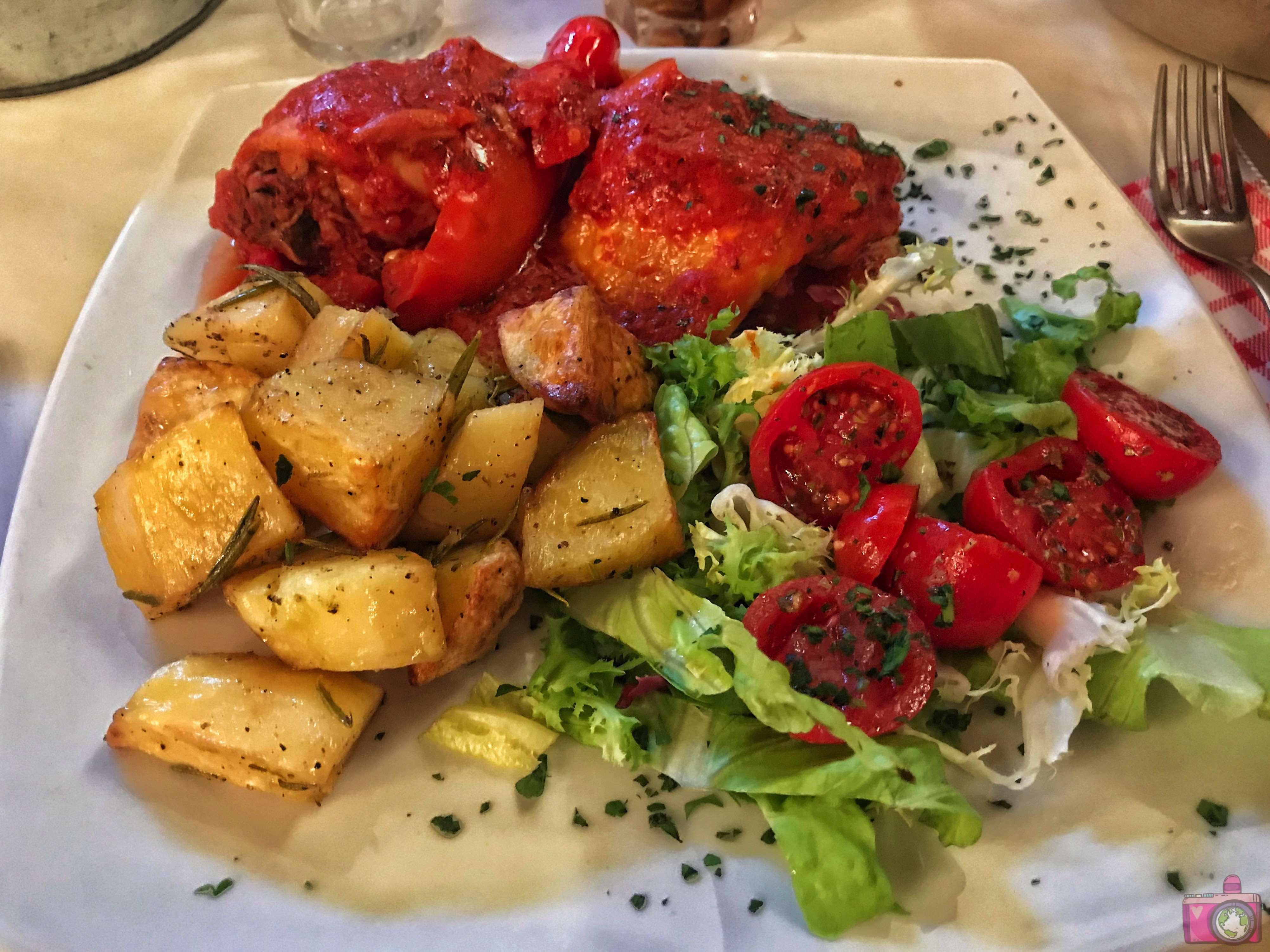Nannarella Pollo alla Romana con peperoni e Patate al forno