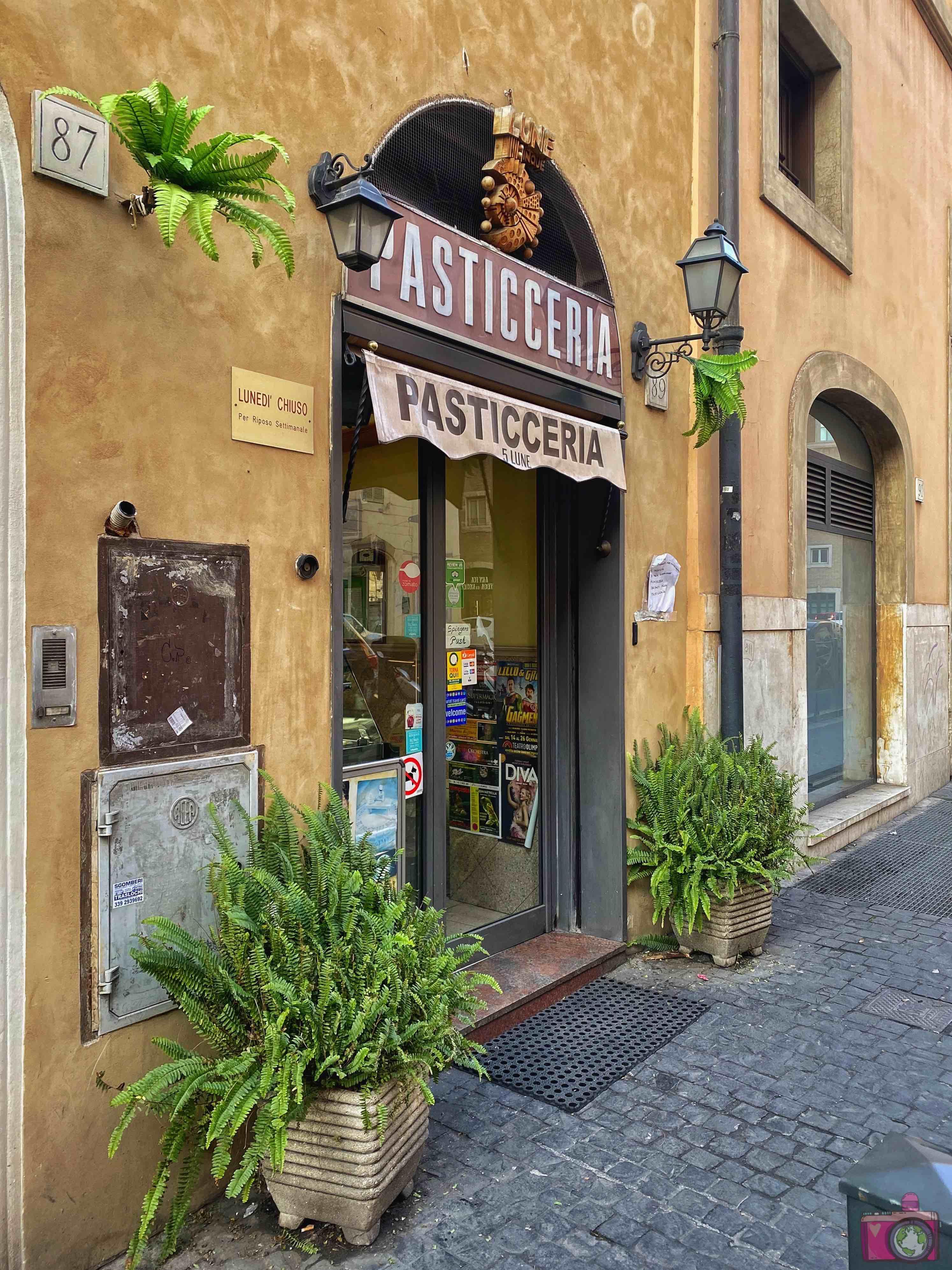 Dove mangiare a Roma Pasticceria Cinque Lune
