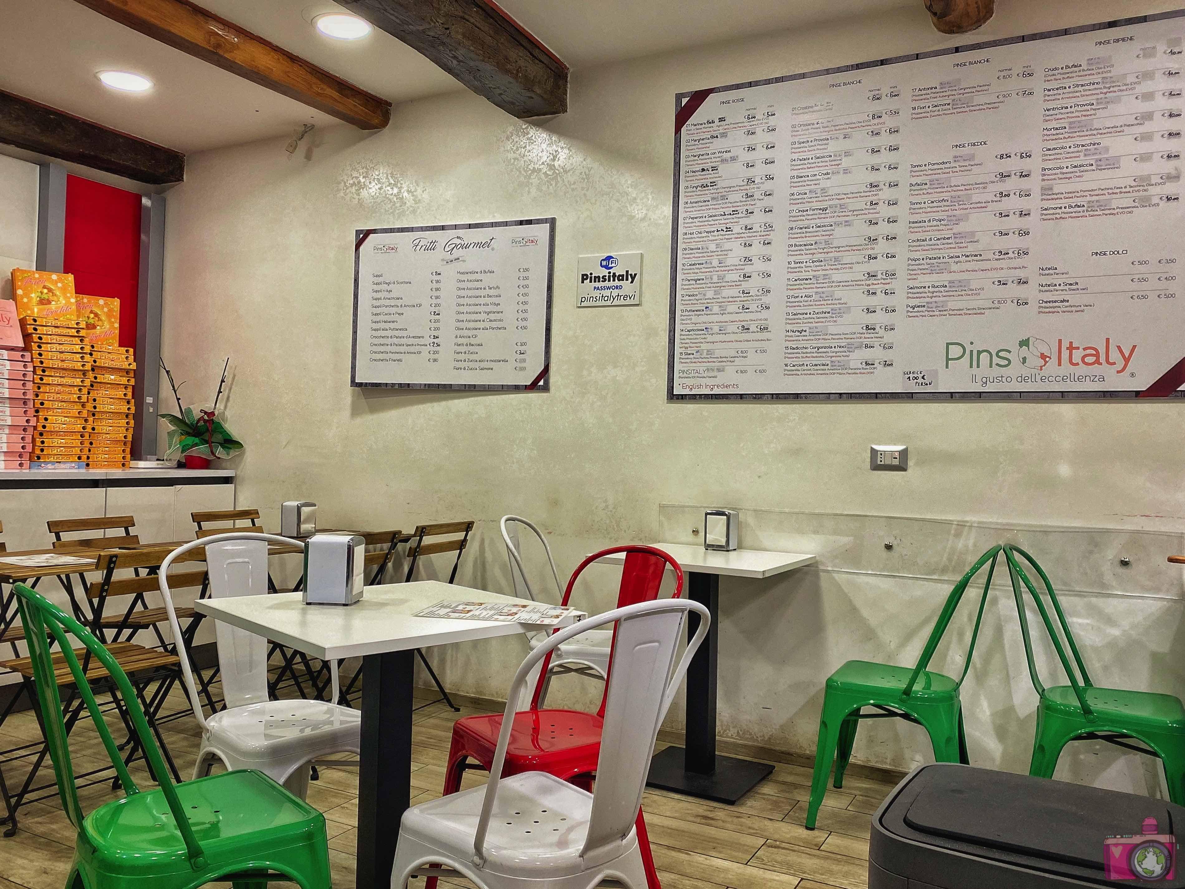 Dove mangiare a Roma Pinsitaly Trevi