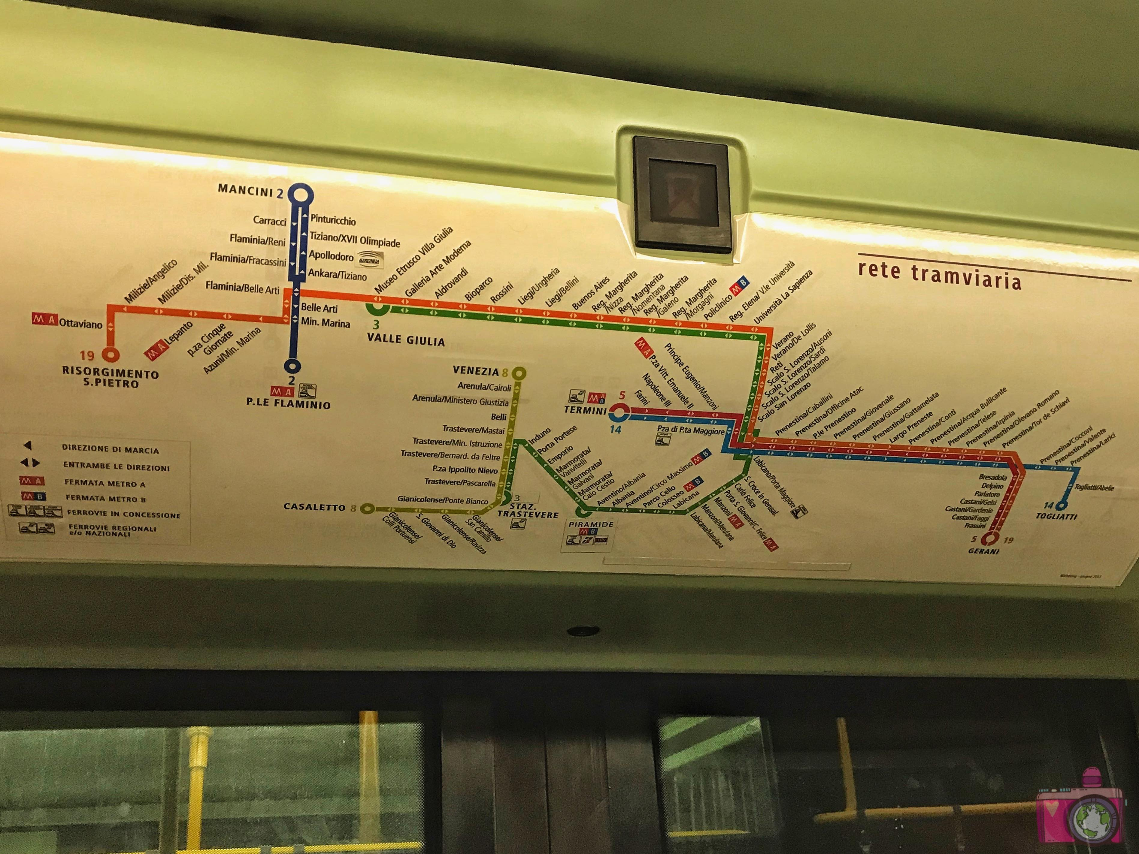 Mappa tram Roma